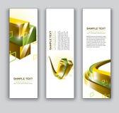 Abstracte Banners. Vectoreps10-Achtergronden. Stock Afbeelding