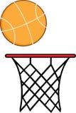 Abstracte Basketbalhoepel met Bal vector illustratie