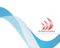 Abstracte bedrijfpagina Stock Illustratie