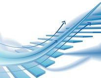 Abstracte bedrijfsachtergrond Stock Afbeelding
