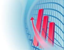 Abstracte bedrijfsachtergrond met grafiek Stock Afbeeldingen
