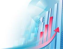 Abstracte bedrijfsachtergrond met grafiek Stock Foto