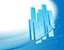 Abstracte bedrijfsachtergrond met grafiek Royalty-vrije Stock Afbeeldingen