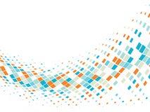 Abstracte bedrijfsachtergrond met mozaïektegels Stock Afbeelding