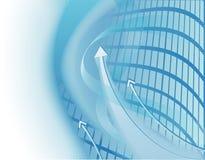 Abstracte bedrijfsachtergrond met pijlen Royalty-vrije Stock Afbeelding