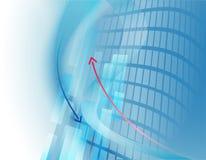 Abstracte bedrijfsachtergrond met pijlen Stock Afbeeldingen