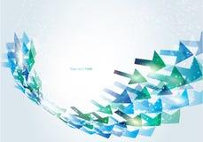 Abstracte bedrijfsachtergrond met pijlen Stock Fotografie