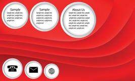 Abstracte bedrijfsachtergrond, rode golfvector Stock Afbeeldingen