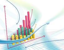 Abstracte bedrijfsgrafiek Stock Foto's