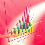 Abstracte bedrijfsgrafiek Stock Fotografie