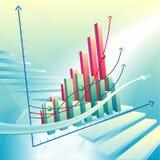 Abstracte bedrijfsgrafiek Stock Afbeelding
