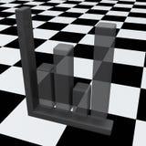 Abstracte bedrijfsgrafiek op schaakbord stock illustratie
