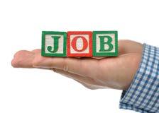 Abstracte bedrijfsmens die een baan zoekt Stock Foto's