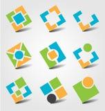 Abstracte bedrijfspictogrammen Royalty-vrije Stock Afbeelding