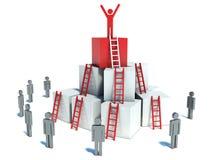 Abstracte bedrijfsvooruitgang, ontwikkeling, succes stock illustratie
