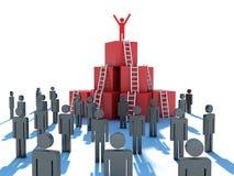 Abstracte bedrijfsvooruitgang, ontwikkeling, succes royalty-vrije illustratie