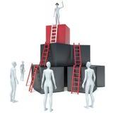 Abstracte bedrijfsvooruitgang, ontwikkeling, succes, leiding en stock illustratie