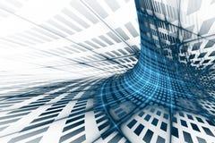 Abstracte bedrijfswetenschap of technologieachtergrond stock illustratie