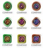 Abstracte bedrijftekens Stock Afbeeldingen