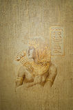 Abstracte behangachtergrond in de stijl van Egypte royalty-vrije stock foto's