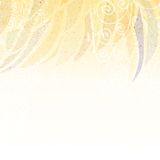 Abstracte beige bloemenachtergrond Stock Afbeeldingen