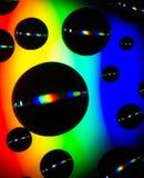 Abstracte bellen op compact disc royalty-vrije stock afbeeldingen