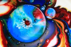 Abstracte Bellenmacro Stock Afbeelding