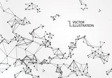 Abstracte betekenis van wetenschap en technologie grafisch ontwerp stock illustratie
