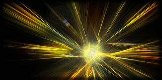 Abstracte betoverende planeetexplosie Royalty-vrije Stock Foto