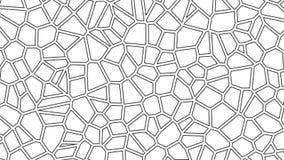 Abstracte bewegende achtergrond van voronoi cellulair patroon Naadloze lijnlengte stock illustratie