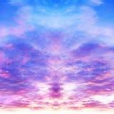 Abstracte bezinning als achtergrond van hemel Stock Afbeelding