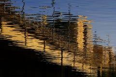 Abstracte bezinningen royalty-vrije stock fotografie