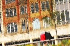 Abstracte bezinningen Stock Foto