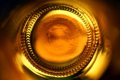 Abstracte bierfles Stock Foto