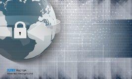Abstracte binaire code en wereld 2 Stock Illustratie
