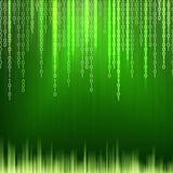 Abstracte binaire codeachtergrond Stock Foto