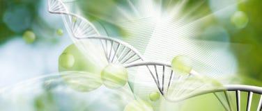 Abstracte biotechnologische achtergrond Royalty-vrije Stock Afbeeldingen