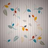 Abstracte Bladerenachtergrond Stock Afbeelding
