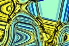 Abstracte Blauw en Gele Achtergrond Stock Illustratie