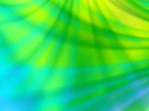 Abstracte blauw en groen lichtlijnen Stock Fotografie