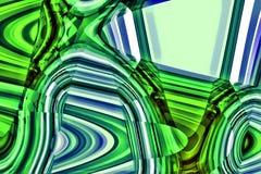 Abstracte Blauw en Groene Achtergrond Stock Illustratie