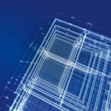 Abstracte blauwdruk Stock Fotografie