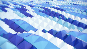 Abstracte blauwe achtergrond, golf, computer geproduceerd beeld het 3d teruggeven Stock Fotografie