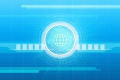 Abstracte blauwe achtergrond met aantallen Royalty-vrije Stock Afbeelding