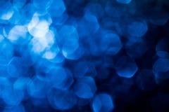 Abstracte blauwe achtergrond met bokeh Royalty-vrije Stock Fotografie