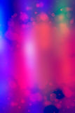 Abstracte blauwe achtergrond met bokehlichten Stock Foto's