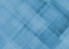 Abstracte blauwe achtergrond met diagonale strepenlijnen en blokken in geometrisch patroon Stock Afbeelding