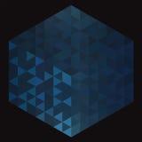 Abstracte blauwe achtergrond met driehoeken royalty-vrije stock afbeelding