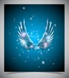 Abstracte blauwe achtergrond met glasvleugels. royalty-vrije illustratie