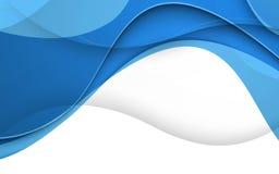 Abstracte blauwe achtergrond met golf Vector Royalty-vrije Stock Foto